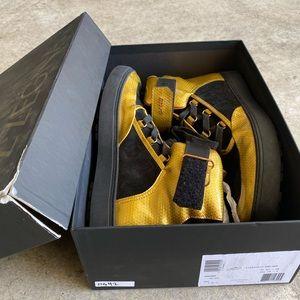 Bally Osmond Gold Calf Metallic High-Top Sneakers